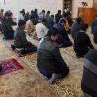 Members of Dunedin's Muslim community gather for Friday prayers at the Al Huda mosque on Clyde St...