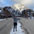 Canadian winter . . . Kaylah Rawson explores the ski town of Banff. PHOTO: SUPPLIED
