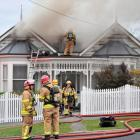 Firefighters tackled a serious house fire in Port Chalmers late yesterday afternoon. PHOTO:...