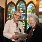 Otago Pioneer Women's Memorial Association secretary Irene Mosley (left) and president Jean Park...