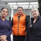 On the line ... A Woman's Touch managers (from left) Esther Gantus and Nerissa Wild along with...