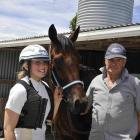 West Melton trainer Ken Ford, with granddaughter Sheree Tomlinson. Photo: Supplied
