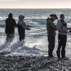 Anglers at the Rakaia River mouth in February. Photo: Fish & Game NZ