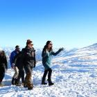 Prime Minister Jacinda Ardern leads a group, including Cardrona Alpine Resort and Treble Cone...