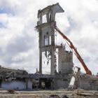 Lancaster Park during its demolition. Photo: Newsline / CCC
