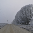 This scene, on Corrigall Rd, Omakau, was just one of the picturesque but chilly locations. Photo:...