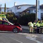 The scene of the crash in Mornington. Photo: Peter McIntosh