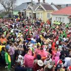 An estimated 2000 students braved bitterly cold conditions to attend the Agnew St party in...
