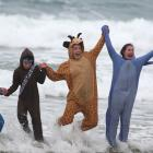 Lifeguards from the Balclutha Centennial Pool took the plunge yesterday at the Kaka Point Surf...