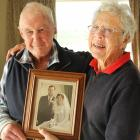 Lasting love . . . Stirling couple Audrey and Bevan Hunter celebrate their 60th wedding...