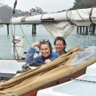 Jackie and David Peers, of Lyttelton, are thankful to have reached Taiaroa Head, in Dunedin, on...