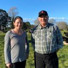 Ohoka farmer Olivia Cahill (left) and Peter Sherriff enjoyed success at the recent Holstein...