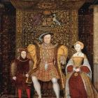 Detail of 'The Family of Henry VIII', at Hampton Court Palace, c. 1545. Pictured are Prince...