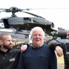 Barry Johnston, of Wanaka, reunites with Otago Rescue Helicopter flight paramedic Craig Didham ...
