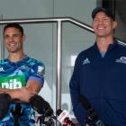 Carter with his new coach Leon MacDonald. Photo: NZH / Brett Phibbs