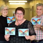 Hepatitis campaigner Hazel Heal, flanked by specialist nurse practitioner Margaret Fraser and...