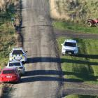 Police were seen parked in the rural Southland town of Glenham yesterday following a tractor...