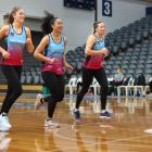 Keen to play again ... Players (from left), Kate Heffernan Taneisha Fifita and Abby Erwood are...