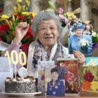 Jessie Wong turned 100 at Radius Fulton Rest Home, in Dunedin, yesterday. PHOTO: PETER MCINTOSH