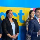 Act's top five (from left) Simon Court, Nicole McKee, Brooke van Velden, leader David Seymour and...