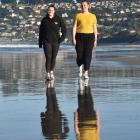 Jody Mowat, of St Kilda Surf Life Saving Club, and Charlotte Becconsall-Ryan, of Warrington Surf...