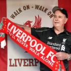 Larry Markham celebrates Liverpool winning the English Premier League, at his Dunedin home...