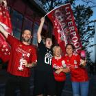Liverpool fans celebrate clinching the Premier League title. Photo: Getty Images