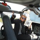 Louisa ''Choppy'' Patterson, of Queenstown's Over The Top Helicopters, with her Eye In The Sky...