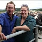 Back to dairying ...Siobhan and Christopher O'Malley at their former share farming spot, a 138ha...