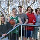 Salmond College residents (from left) Shannon Glover (21), Josh Greer (18), Blair Scho (19),...