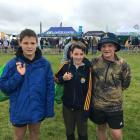 Blue Mountain College pupils (from left) Charlie Ottrey (12), Dylan Young (12) and Riley Hill (13...