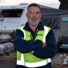 Mosgiel Caravan Park manager and tenant Richard Wallis is refusing to leave his home despite its...