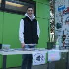 Otago Students Geology Society president Lachie Scarsbrook sold tickets outside the OUSA Clubs...