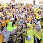 St Hilda's Collegiate School pupils dressed in yellow yesterday to celebrate the shortest day of...
