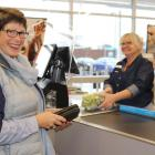 POPULAR: Catherine Haig of Rolleston at the new FreshChoice Prebbleton. She is served by checkout...