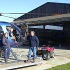 Wilkin River Jets and Backcountry Helicopters owner operators Harvey Hutton and his daughter...
