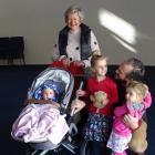 Wanaka Community Hub chairwoman Yeverley McCarthy with members of the Barrington family, (from...
