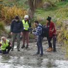 Filming to promote the Wanaka Water Project's work are  (from left) project manager Megan...