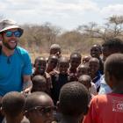 Wanaka local Richard Sidey greets Tanzanian locals in his award-winning film The KFC, about five...