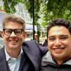 Isaac Gunson with Breakfast presenter John Campbell, when the show did a week-long road trip that...
