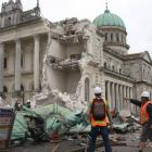 The Cathedral of the Blessed Sacrament pictured on the day of the February 22, 2011, quake. Photo...