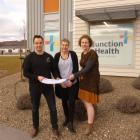 Looking at plans for the expansion of Junction Health in Cromwell are (from left) Dr Keith Abbott...