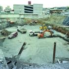 About 27,500cu m of earth was shifted during the excavation for Dunedin's Arthur Barnett...