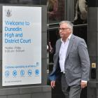 Barry Kloogh leaves the Dunedin District Court after he was released on bail in February. PHOTO:...