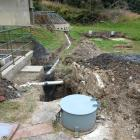 Exposed wastewater plant pipework in Waipori Falls, previously certified as compliant. PHOTO:...