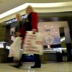 Christmas spending was expected to help the listed retail sector. Photo by Gregor Richardson.