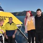 Perry (left) and Martin Reid, from Natures Wonders, Sarah Cunningham and Tony Reid, from the...