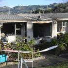 The burnt out unit after a recent fire at Currie Court council flats, in Port Chalmers. PHOTO:...