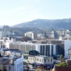 Looking out on to the new University of Otago's clinical services building in Dunedin and the...