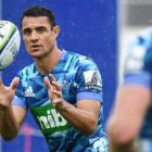 Dan Carter suffered a calf injury at Blues training today. Photo: RNZ